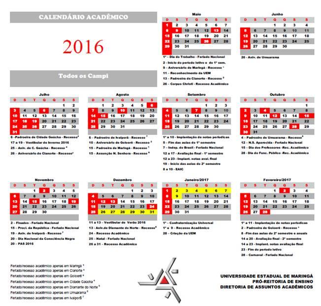 Calendario Uem.Resolucao 017 2015 Cep